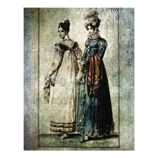 FASHIONABLE LADIES DRESS ENGLISH AND FRENCH 1815.j Letterhead Design