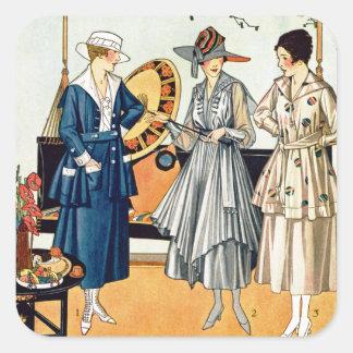 Fashionable Ladies Square Sticker