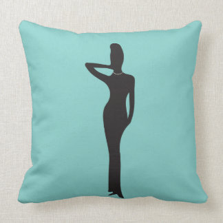 Fashionable Lady With Pearls Throw Pillow