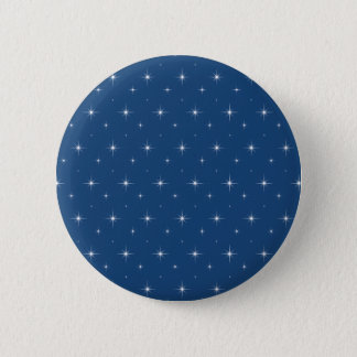 Fashionable Monaco Blue And Bright Stars Pattern 2 Inch Round Button
