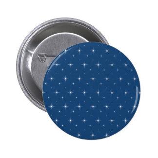 Fashionable Monaco Blue And Bright Stars Pattern 2 Inch Round Button