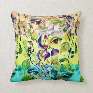 Fashionable painted  eyes throw pillow