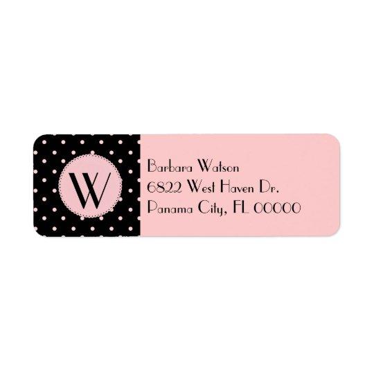 Fashionable Pink & Black Monogram