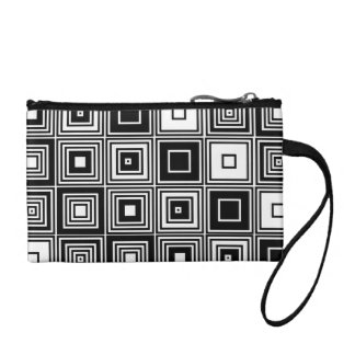 Fashionable Retro look black white Coin  clutch