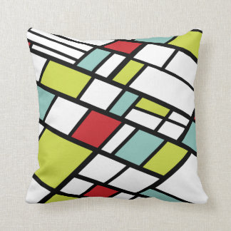 Fashionable split complementary modern abstract pillows