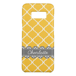 Fashionable Yellow Moroccan Lattice and Grey Lace Case-Mate Samsung Galaxy S8 Case