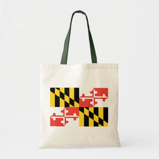 Fashionably Green Maryland State Flag Tote Bag