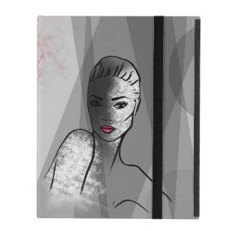 Fashionillustration Beautiful Face iPad Case