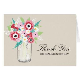 Fashionista Bloom Mason Jar | Thank You Card