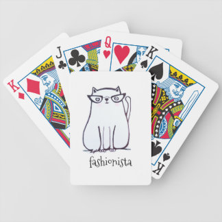 fashionista cat bicycle playing cards