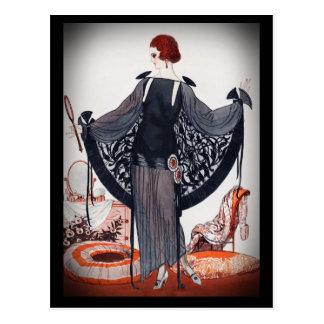 Fashionista Diva Roaring Twenties Postcard