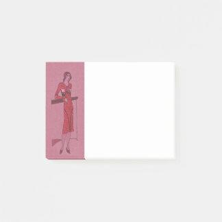 Fashionista Flapper  Illustration c1925 Post-it Notes