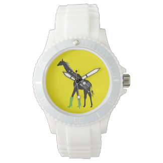 Fashionista Giraffe White Sporty Watch