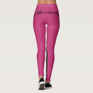 Fashionista Magenta & Black Leggings