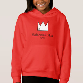 Fashionista Mini 2017 Girls Hoodie