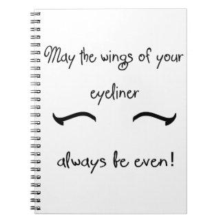 Fashionista Quote Notebook