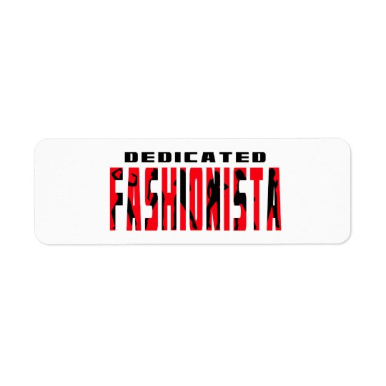 Fashionista Return Address Label