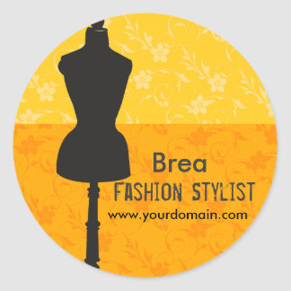 Fashions Stylist Seamstress Professional Dress Round Sticker