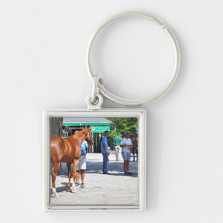 Fasig Tipton 16' Silver-Colored Square Keychain