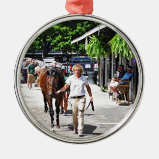 Fasig Tipton Select Sales Silver-Colored Round Ornament