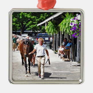 Fasig Tipton Select Sales Silver-Colored Square Ornament