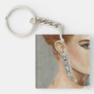 Fasion Woman,Jewllery,Makeup. Single-Sided Square Acrylic Keychain