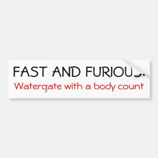 Fast and Furious Bumper Stickers