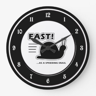 Fast as a speeding snail large clock