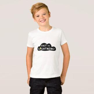 Fast As Lightning Kid's T-shirt