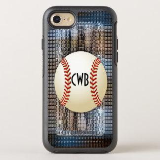 Fast Ball Monogram Modern Cool OtterBox Symmetry iPhone 8/7 Case
