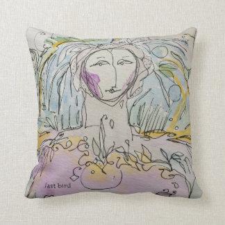 fast bird faster angel pillow