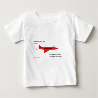 Fast-flying Flynn the Red Jet Airplane in Flight Baby T-Shirt