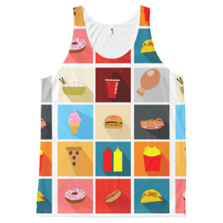 Fast Food All-Over-Print Tank Top