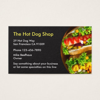 Fast Food Businesscards Business Card
