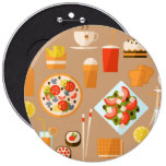 Fast food buttons