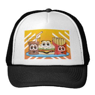 Fast Food Cartoon Trucker Hat