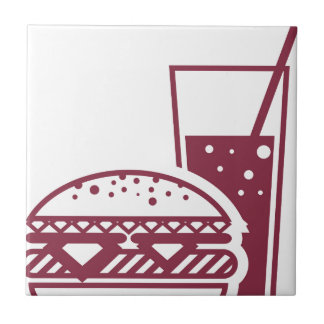 Fast Food Cheeseburger and Drink Tiles