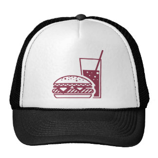 Fast Food Cheeseburger and Drink Trucker Hat