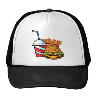 Fast Food Cheeseburger Mesh Hats