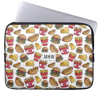 Fast Food custom monogram laptop sleeves