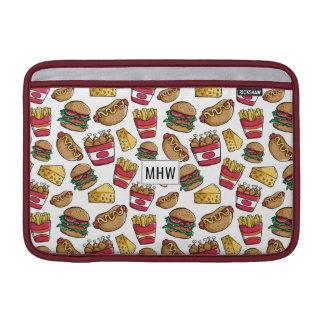 Fast Food custom monogram Macbook sleeves