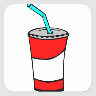 Fast Food Drink Square Sticker