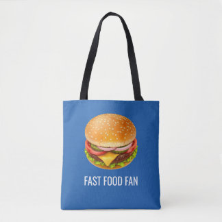 Fast Food Fan All-Over-Print Tote Bag