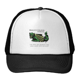 Fast Food for Dragons jpg Trucker Hats