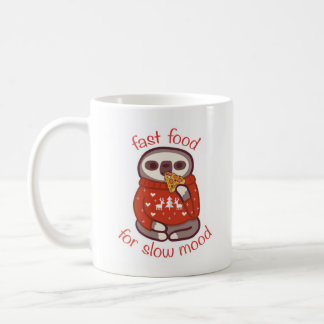 fast food for slow mood coffee mug