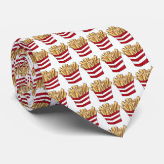 Fast Food French Fries Fry Foodie Red White Tie
