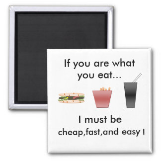 fast food fridge magnet