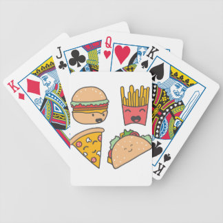 fast food friends bicycle playing cards