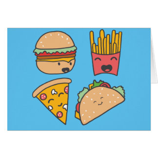fast food friends card