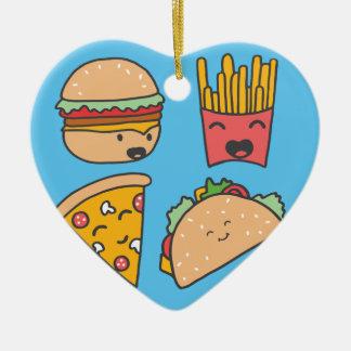 fast food friends ceramic ornament